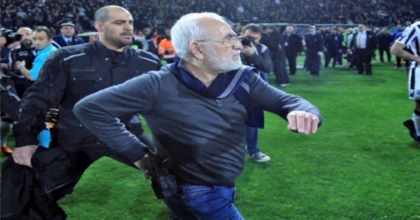 Federação Grega suspende campeonato local após dono do PAOK invadir campo armado