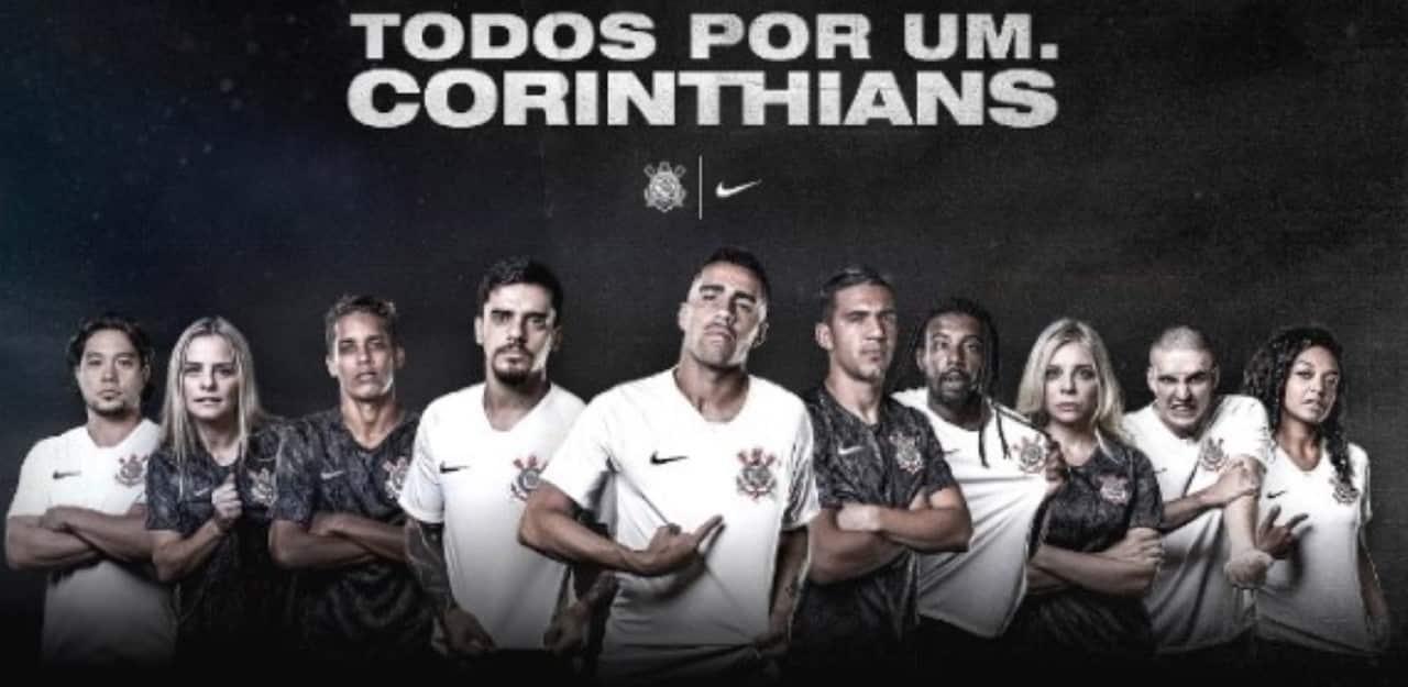 Corinthians divulga escudo do clube com protesto contra queimadas na Amazônia