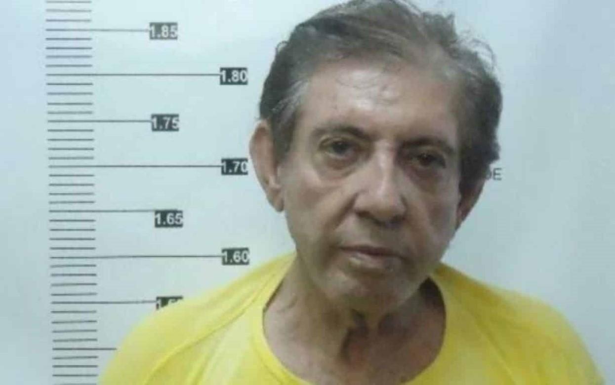 Foto mostra João de Deus ao ser registrado do sistema penitenciário após ser preso suspeito de abusos sexuais