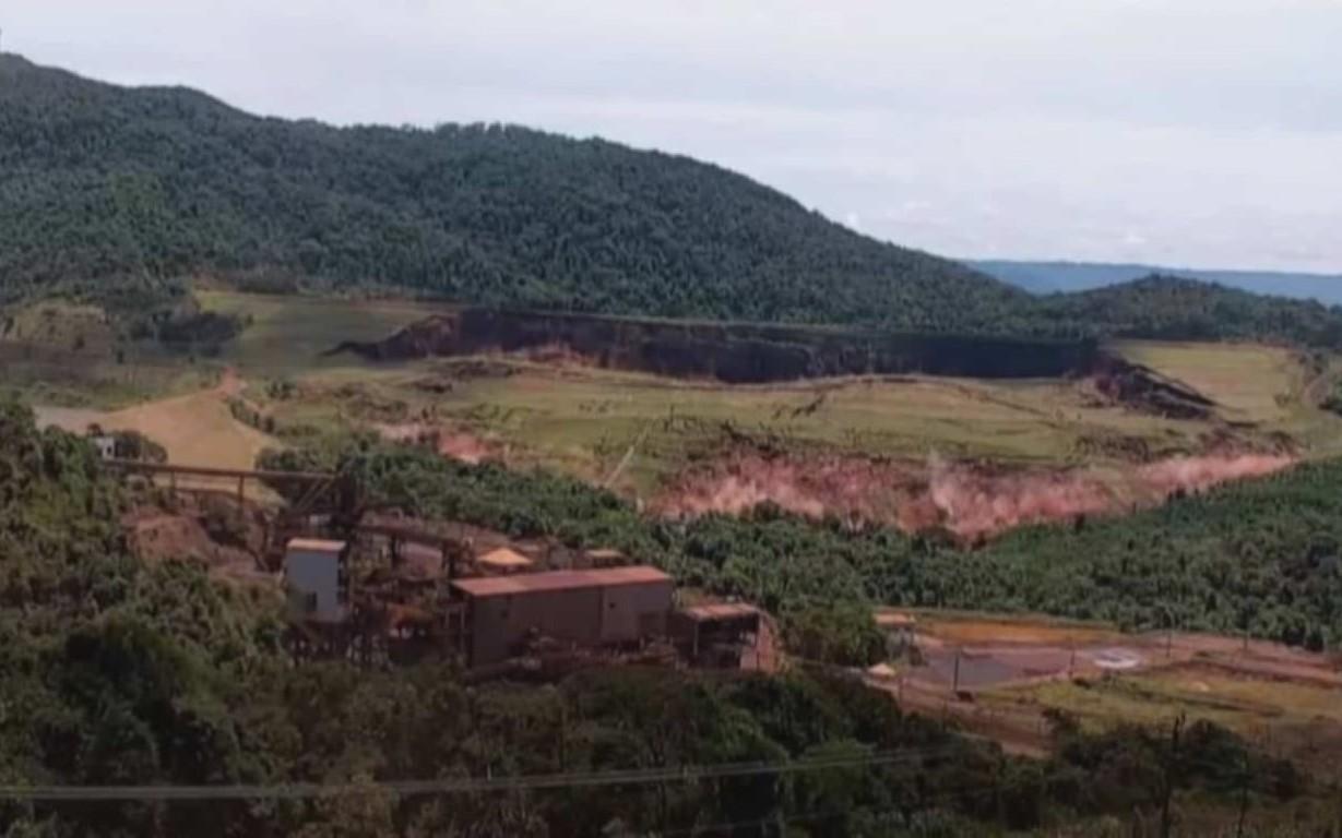 Imagens obtidas com exclusividade pela TV Globo mostram o exato momento do rompimento da barragem 1 do Complexo da Mina Córrego do Feijão,