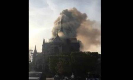 Catedral de Notre-Dame, em Paris, é atingida por incêndio