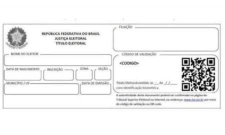 Título de eleitor ganha novo formato em São Paulo.