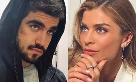 Caio Castro fala de Grazi Massafera na gravação do Altas Horas e manda 'beijo especial'