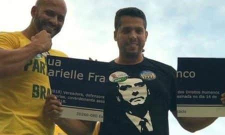Deputados que quebraram placa de Marielle são alvo de protesto em escola do Rio
