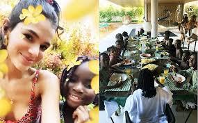 Bruna Marquezine recebe crianças refugiadas em sua casa no Rio