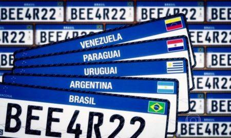 Placa Mercosul já está disponível em todo o Brasil