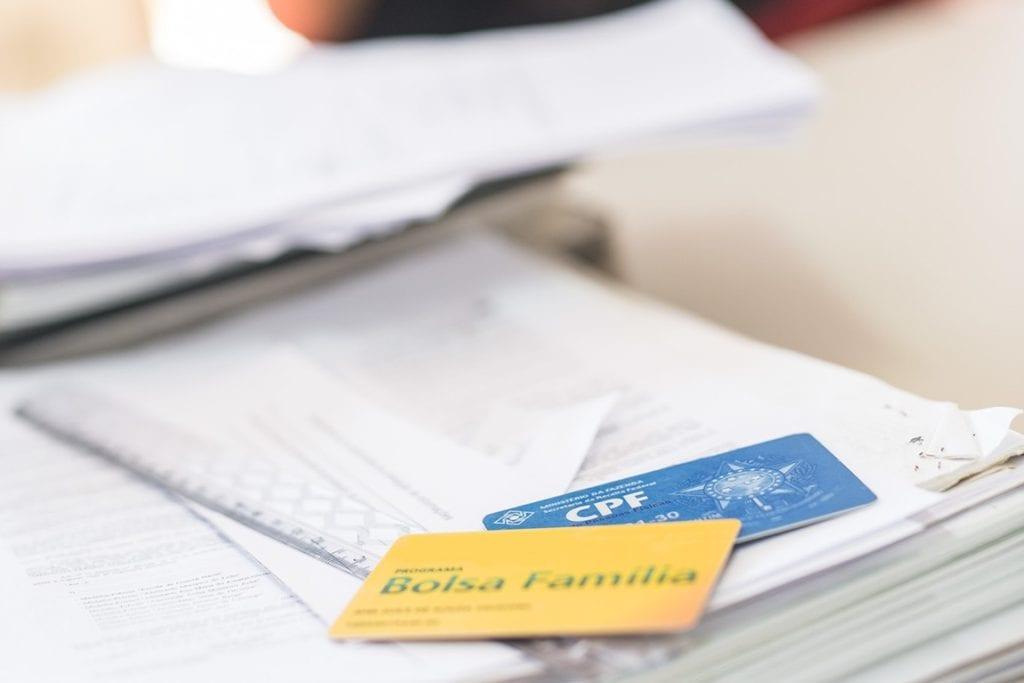 Cartão do Bolsa Família e CPF